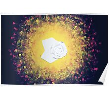 Drifting-Origami Lotus and Lily Pad Poster