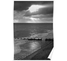A break in the clouds Norfolk coast Poster