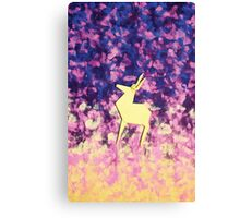 Evening Forest-Origami Deer Canvas Print