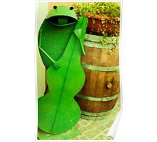 frog at lake garda restaurant  Poster