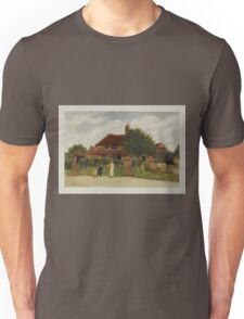 Kate Greenaway Collection 1905 0345 Cottages Unisex T-Shirt