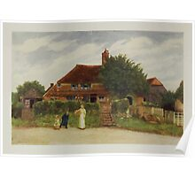 Kate Greenaway Collection 1905 0345 Cottages Poster