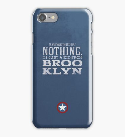 Just a Kid From Brooklyn iPhone Case/Skin