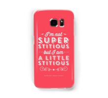 The Office Dunder Mifflin Michael Scott Quote - Superstitious Samsung Galaxy Case/Skin