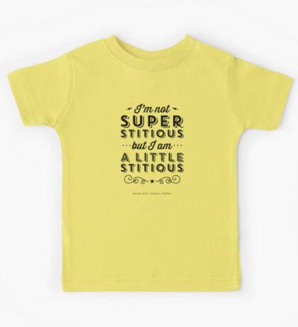 The Office Dunder Mifflin Michael Scott Quote - Superstitious Kids Tee