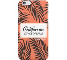 """Californita, City of Dreams"" Coral and Palm Fronds iPhone Case/Skin"
