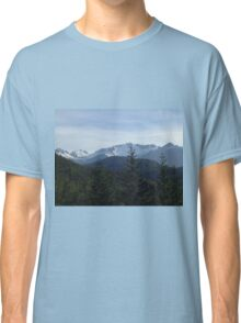 Snow capped mountains Classic T-Shirt