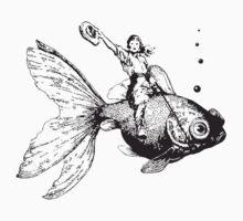 goldfish-riding cowgirl by Vana Shipton