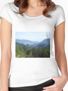 Trees and mountains Women's Fitted Scoop T-Shirt