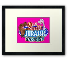 It's a Small Jurassic World (Logo w dinos) Framed Print