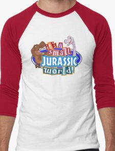 It's a Small Jurassic World (Logo w dinos) Men's Baseball ¾ T-Shirt
