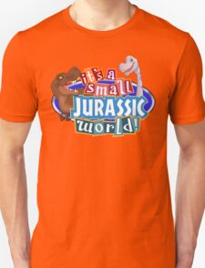It's a Small Jurassic World (Logo w dinos) Unisex T-Shirt