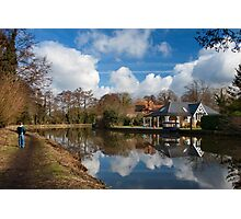 Wey Navigation, Weybridge, Surrey Photographic Print