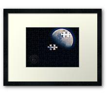 1/4 Moon Framed Print