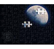 1/4 Moon Photographic Print