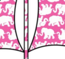 Lilly Pulitzer Inspired Sailboat - Pink Tusk in Sun Sticker