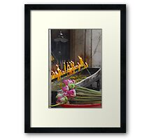 The offering. Framed Print