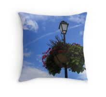 BLUE SKY & WHITE CLOUDS Throw Pillow
