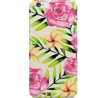 Ferns and Flowers Pattern iPhone Case/Skin