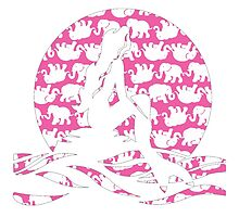Lilly Pulitzer Inspired Mermaid (2) Pink Tusk in Sun by mlr28blu