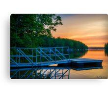 Sunset at Kearney Lake Canvas Print