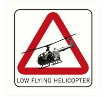 SPECTRE - Low Flying Helicopter Art Print