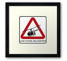 SPECTRE - Low Flying Helicopter Framed Print
