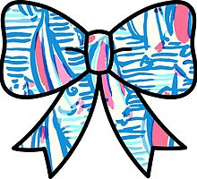 Lilly Pulitzer Inspired Bow Red Right Return by mlr28blu