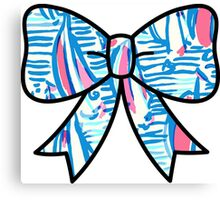Lilly Pulitzer Inspired Bow Red Right Return Canvas Print