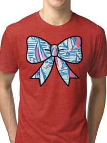 Lilly Pulitzer Inspired Bow - Red Right Return Tri-blend T-Shirt
