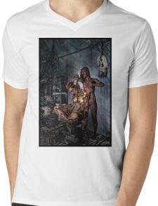Cyberpunk Painting 058 Mens V-Neck T-Shirt