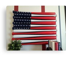 America's pass time is baseball....and today is Flag Day Canvas Print
