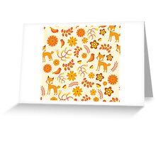 Fox Pattern Greeting Card