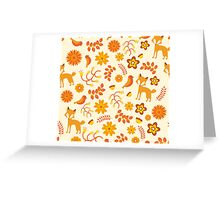 Fox Pattern Greeting Card