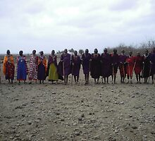 Masai tribe welcome by pixiealice