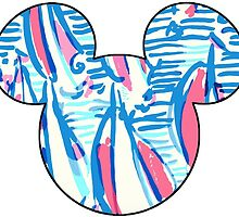 Lilly Pulitzer Inspired Mouse Ears Red Right Return by mlr28blu