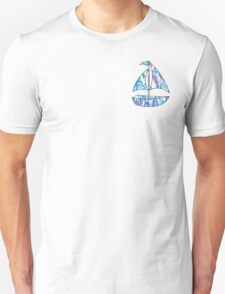 Lilly Pulitzer Inspired Sailboat - Red Right Return Unisex T-Shirt