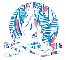 Lilly Pulitzer Inspired Mermaid (2) Red Right Return by mlr28blu