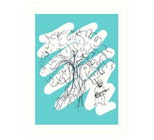 Banjo Tree 3 Art Print