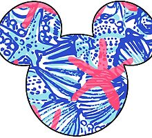 Lilly Pulitzer Inspired Mouse Ears She She Shells by mlr28blu