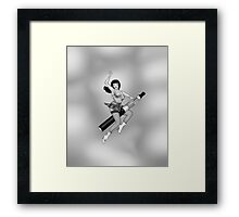 ReVaped Pin Up 2 Greyscale Framed Print