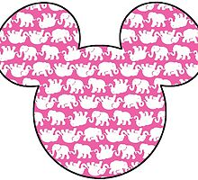 Lilly Pulitzer Inspired Mouse Ears Pink Tusk in Sun by mlr28blu