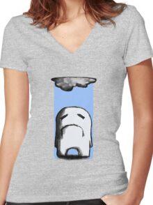 Gloomy Women's Fitted V-Neck T-Shirt