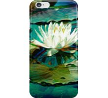 White Water Lily Impression iPhone Case/Skin