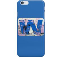 Blue W iPhone Case/Skin