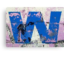 Blue W Canvas Print