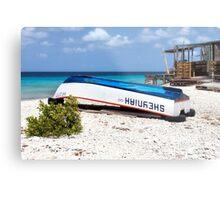 Bonaire. Old Boat Metal Print