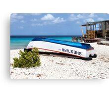 Bonaire. Old Boat Canvas Print