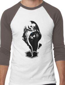 Blue Men's Baseball ¾ T-Shirt