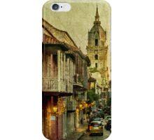 Vintage Grunge Urban View of Cartagena Architecture iPhone Case/Skin